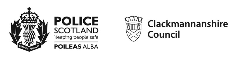Police Scotland & Clackmannanshire Council logos